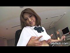 นางเอกAVญี่ปุ่น Hana Yoshida เล่นหนังเอ็กซ์คอสเพลย์เย็ดคาชุดนักเรียน